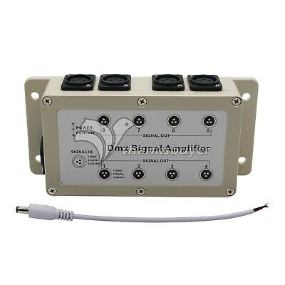 LED Controller DMX 8 Channel Output DMX512 Signal Amplifier Splitter Distributor