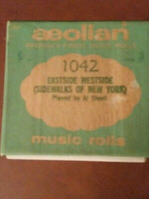 Aeolian Player Piano Word Roll East Side West Side # 1042