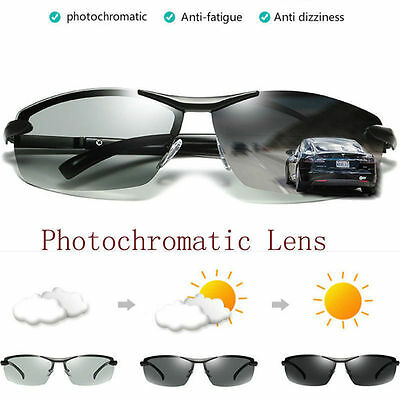 Polarized Photochromic Sunglass Men Outdoor Driving Transition Lens Sunglasses