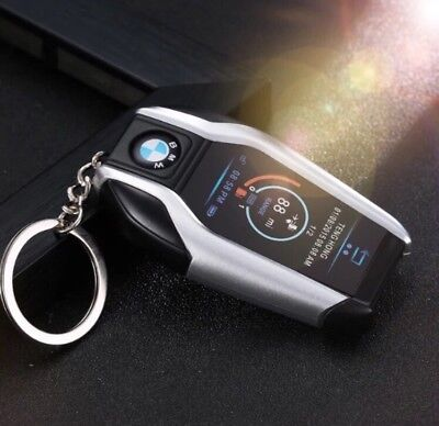 1 X Car Key Fob  lighter Refillable Gas Windproof Lighter Uk Seller