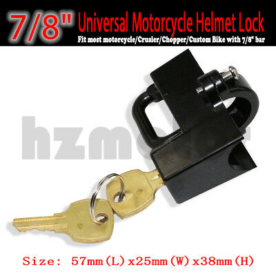 Anti-theft Security Motorcycle Helmet Lock Universal Fit Harley 7/8'' 22mm Tube