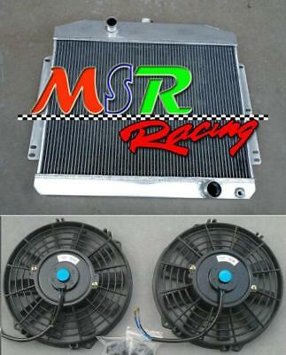 56mm 2rows radiator & fans for Mercury W/Chevy 350 5.7 V8 A/T 1949 1950 1951 new