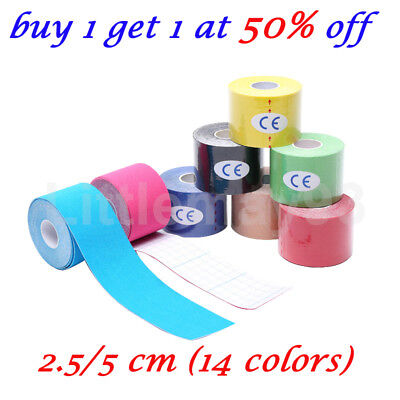 5M Athletic Muscle Tape Kinesiology Physio Strapping Sport Body Knee Rocktape UK