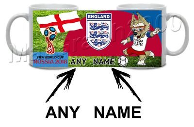 Personalised 2018 World Cup Russia England Group G Football Ceramic Mug Mundial