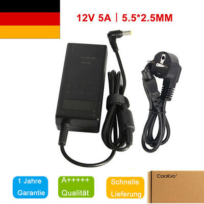 12V 5A 60W Universal AC/DC Power Supply Adapter Netzteil für PC LCD monitor TV