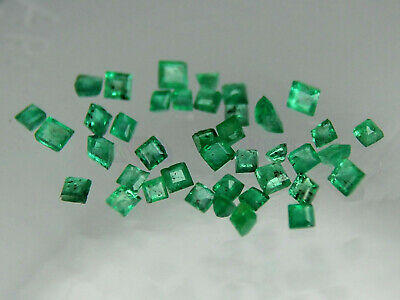 Natural Emerald Square Loose Gemstone Best VS many sizes 1.2 1.5  1.7 2x2mm  2.3