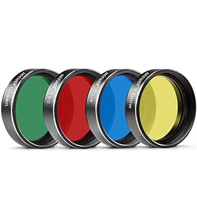 Neewer Standard 1.25 Four Color Filter Set for Telescope Eyepiece RedYellow