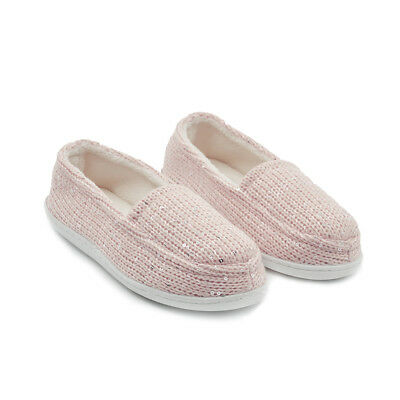 Winter  Comfy KNITS SEQUINS Ladies Slipper Soft Warm Moccasin Women Shoes