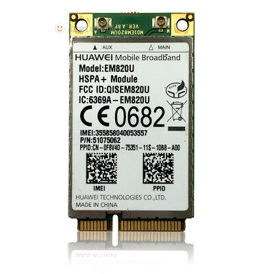 Unlocked HUAWEI EM820U Wireless 3G WWAN 21Mbps HSPA+ GSM/EDGE/GPRS PCI-E Card