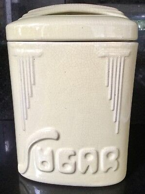 Bakewells Pottery Beulah Ware SUGAR Canister