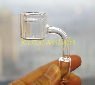 14mm male joint double-wall quartz thermal banger for bong waterpipe hookah