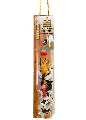Nature Tube Toys Wild Republic Farm Animal Figures with Playmat for Kids