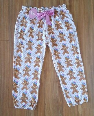 PETER ALEXANDER PJS Womens Gingerbread Crop Harem PJ Pants S/M/L/XL BNWT Cotton