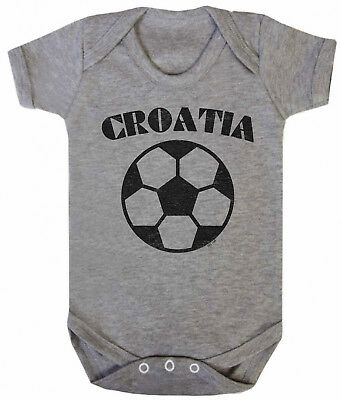 CROATIA Boys Girls Football Unisex BABYGROW Vest World Cup 2018 Basic Retro