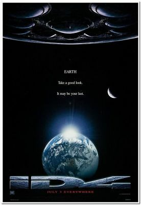 INDEPENDENCE DAY - 1996 - original 27x40 Movie Poster - Style A - WILL SMITH