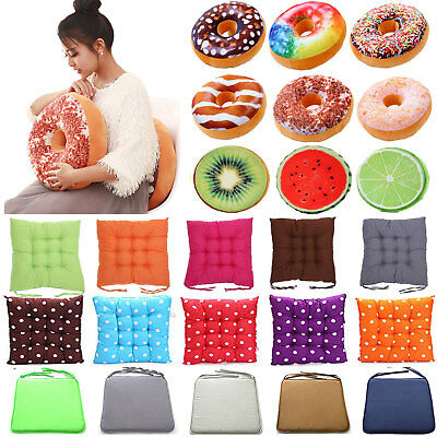 Donut Fruit Chair Cushion Seat Pads Garden Dining Kitchen Office Patio Pillow