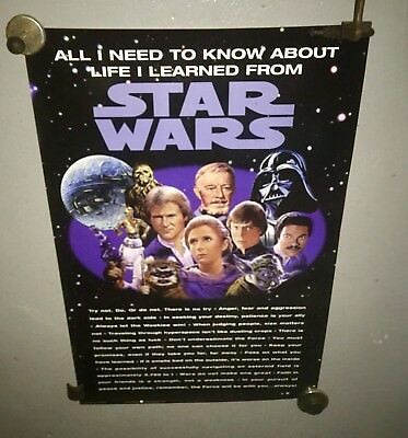 1996   Star Wars All I Need to Know About Life I Learned from Star Wars Poster