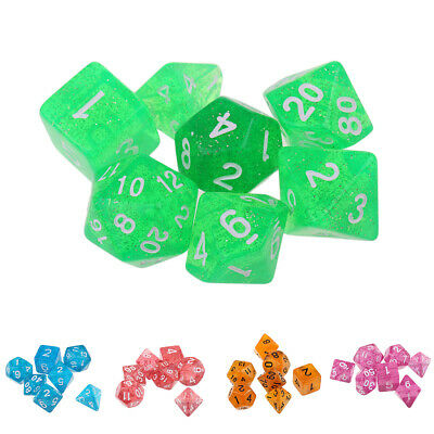 7Pc Polyhedral Dice Set for Dungeons & Dragons Table Games Toys 1.6cm/0.62''