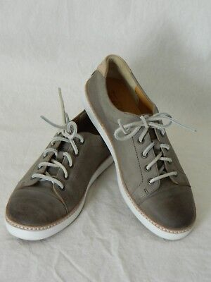 Sperry Top-sider Women Taupe Gold Cup Leather Sneakers Shoes Size 7 Pre Owned