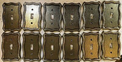 Gold Cast Victorian Heavy Metal Vintage style Switch Covers outlet NEW WHOLESALE