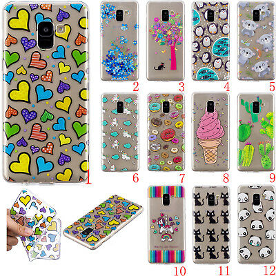 Cute Pattern Rubber Silicone Clear Soft TPU Back Cover Case For Samsung Note8 S9