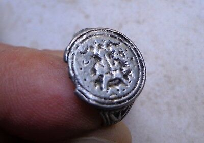 Byzantine Silver Armorial Signet Ring 12th-13th century AD.