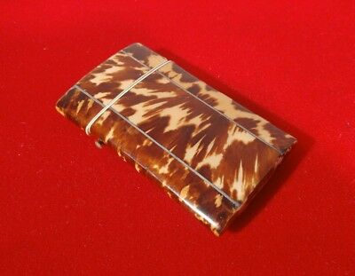 ATTRACTIVE & DELICATE EARLY VICTORIAN FAUX TORTOISESHELL CARD CASE c1840