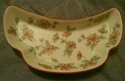 Vtg Interesting Asian Or Asian-Look Dish Handpainted Signed Mb