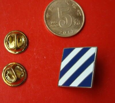U.S. ARMY 3RD INFANTRY DIVISION Pin 3/4 Inch Square Lapel Pin-2296