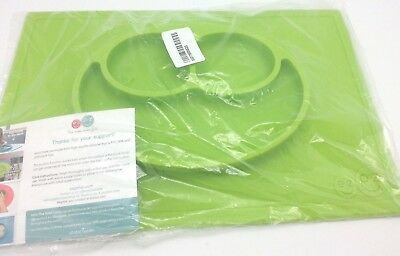 Original ezpz Happy Mat  Suctions One Piece Silicone Placemat Lime Green New