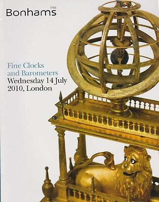 Fine Clocks & Barometers Auction Catalogue