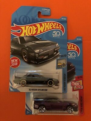 2018 Hot Wheels 82 NISSAN SKYLINE R30 & Purple GT-R R33 Very HTF 2 Car Lot