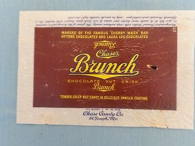 "1930s Chase's ""Brunch"" Candy Wrapper, Chase Candy Co.  St. Joseph MO."