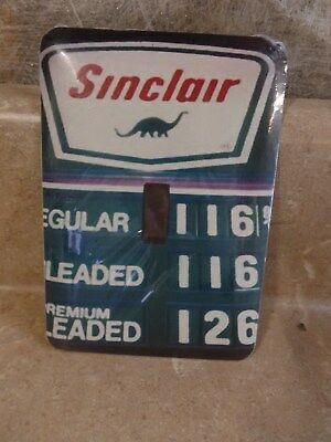 Sinclair Gas Lightswitch Plate Cover Single Switch Metal Dinosaur NEW