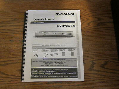 Operating instructions owner's user manual for Sylvania DVR90DEA