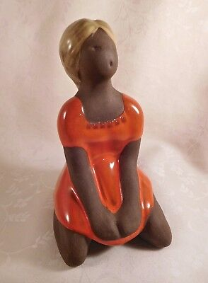 "Scandinavian/Swedish Pottery 6"" Figure, Harry Hallberg, Deco Keramik Helsingborg"