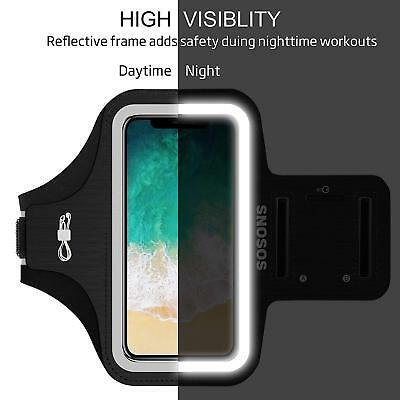 i Phone X Armband Waterproof Sport Gym Armband Case Fingerprint Touch Support