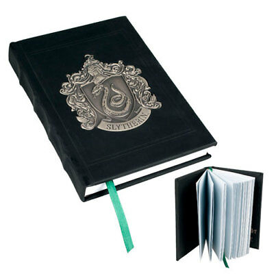 New Wizarding World of Harry Potter Slytherin House Metal Crest Leather Journal