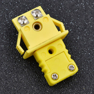 Plastic Shell K Type Socket & Thermocouple Panel Mount Alloy Plug Connector Set