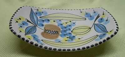 Vintage Art Pottery Hand Made & Painted in Norway Ceramic Banana - Fruit Bowl