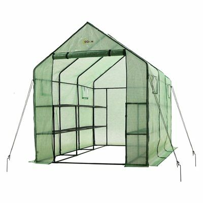Ogrow Walk-in 2-tier Portable Garden Greenhouse with Windows