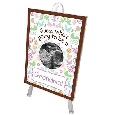 Guess Who's Going to be a Grandma Ultrasound Sonogram Picture Frame