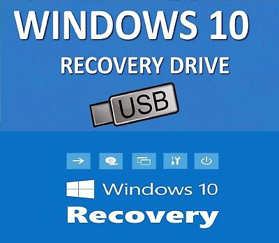 WIN 10 64 Bit System Recovery Software Disc's ON THE USB - 2018 latest!