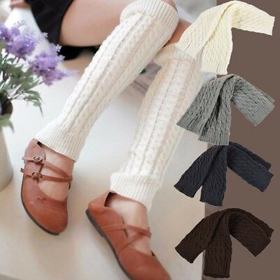 Leg warmers Stocking Legging High Knee Wool Knitted Womens Knit Ankle Socks