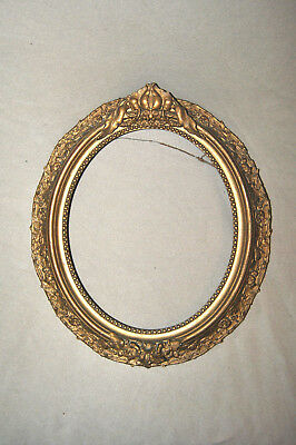 2 ANTIQUE Oval Wood Floral Wooden Gold Picture Frames 19 X 22