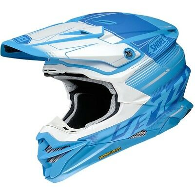 NEW Shoei MX VFX WR Zinger Blue White M.E.D.S Motocross Dirtbike Helmet
