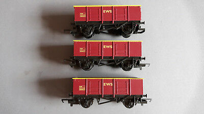 Hornby R6367 Ews Open Wagons X 3 Very Good Condition Unboxed Oo Gauge(Dx)