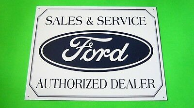 Metal tin SIGN Wall Decor Garage Plaque (SALES & SERVICE Ford AUTHORIZED DEALER)