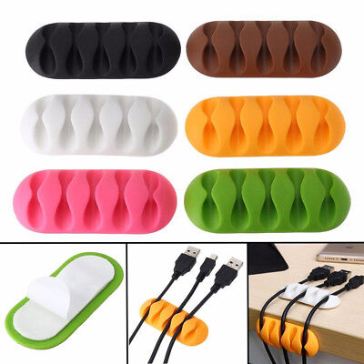 Practical Self-Adhesive Cable Clips Organizer Drop Wire Holder Cord Management