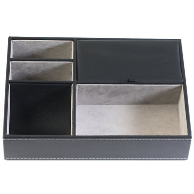 Buxton Men's Charging Station and Valet Jewelry Tray